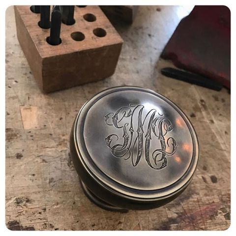 hand engraved door knob