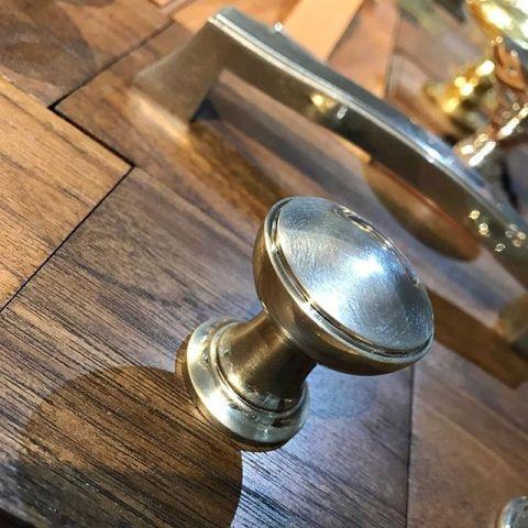 burnished nickel turned cabinet knob