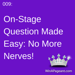009 - on stage question made easy - no more nerves