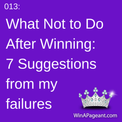 013: What not to do after winning