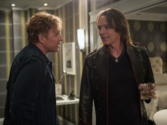 "Supernatural -- ""Mamma Mia"" -- SN1202a_0024.jpg -- Pictured (L-R): Woody Jeffreys as Tommy and Rick Springfield as Vince Vincente -- Photo: Diyah Pera/The CW -- © 2016 The CW Network, LLC. All Rights Reserved"