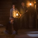 """Supernatural -- """"American Nightmare"""" -- SN1204b_0008.jpg -- Pictured (L-R): Jared Padalecki as Sam, Gig Morton as Elijah Peterson and William MacDonald as Abraham Peterson -- Photo: Jack Rowand/The CW -- © 2016 The CW Network, LLC. All Rights Reserved"""
