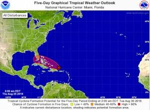 Disturbance im Anmarsch auf Florida