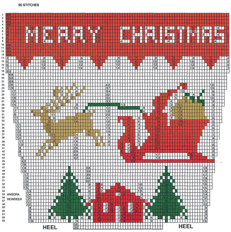 Knitting Charts Christmas : Christmas stocking knitting patterns winding the skein
