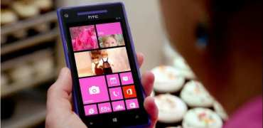 Windows Phone HTC 8X rosa  Kopie