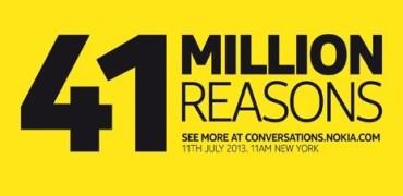 Nokia EOS Teaser 41 Millionen Gründe - korrigierte Zeitangabe