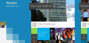 Foursquare Windows 8 - Screenshot