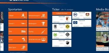 Sportschau Win 8 - Screenshot