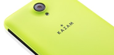 KAZAM Windows Phone Thunder 450W 450WL back yellow gelb