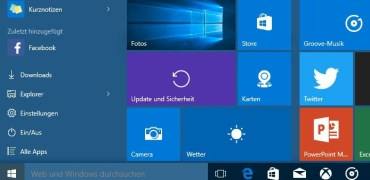 Windows 10 Startmenü Update-Beitragsbild