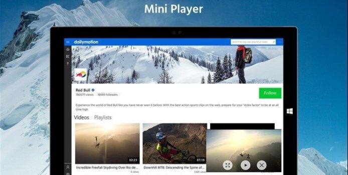 DailyMotion ist nun eine Universal Windows App