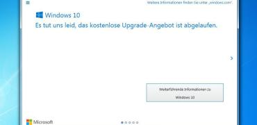 Windows 10 Upgrade Angebot