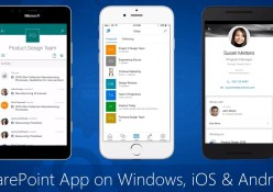 SharePoint Windows 10 Mobile, iOS, Android