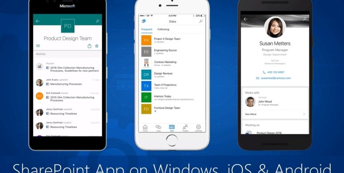SharePoint Preview-App erscheint für Windows 10 Mobile