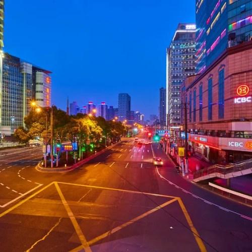 55060985 - shanghai, china - march 12, 2016: shanghai skyline at night
