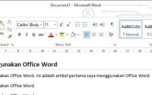 Cara Menulis Artikel Blog Menggunakan Office Word