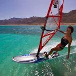 Norwegian freestyler Lene Kyte in Dahab Egypt