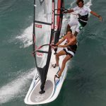 Tandem Windsurfing with Boujmaa and Iballa