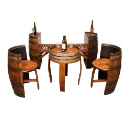 Arresting Sonoma Barrel Table Set Napa East Collection Wine Country Accents Wine Barrel Furniture Benton City Wine Barrel Furniture Hammondsport Ny