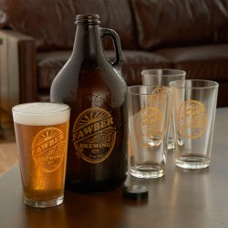 Bodacious Growler Sets Preparing Zoom Personalized Brewing Growler Glasses Set Wine Enthusiast Personalized Beer Glasses Engraved Personalized Beer Glasses