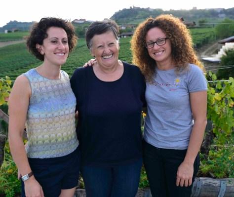 Lucia Altare with her daughters Elena (left) and Silvia Photo Credit - Elisabetta Vacchetto