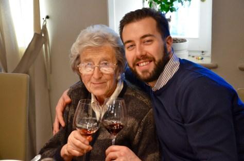 Carlo Deltetto with his maternal nonna, Bibiana Brezzo.