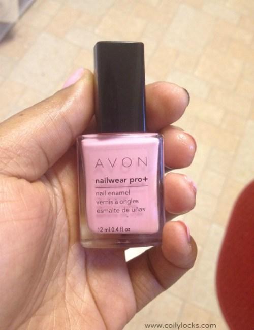 pink & brown polka dot nail art coily locks manicure monday alisha lampley 1