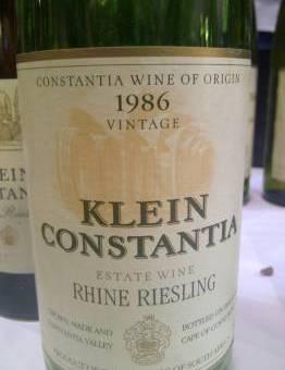Klein Constantia Riesling 1986 – 2012