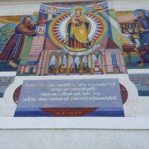 Ein Wandgemälde in Fernitz