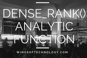 DENSE_RANK-ANALYTIC-FUNCTION