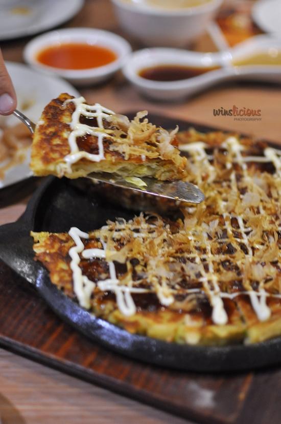 Salmon Okinomiyaki