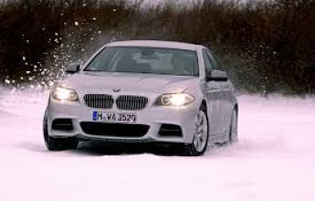 BMW 5 Series Snow