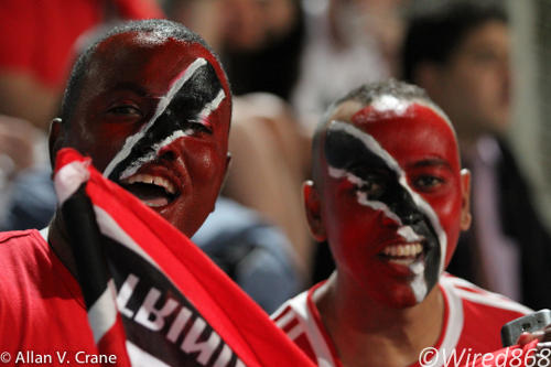 Photo: Trinidad and Tobago football fans have been well served by Wired868's football coverage. (Courtesy Allan V. Crane/ Wired868)
