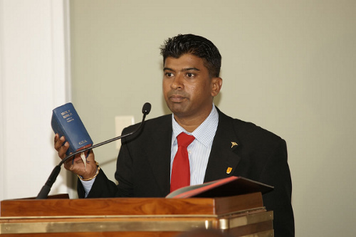 Photo: Minister of the People and Sportsman of the Year nominee Glenn Ramadharsingh.