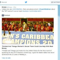 Help feed T&T women footballers: Chaos as Princesses reach Dallas