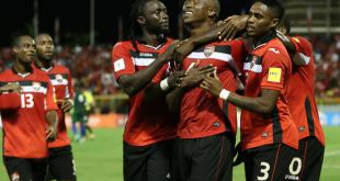 Fri 29th Mar. 2016: during the 2ndhalf of the World Cup Qualifier match between St. Vincent and the Grenadines and Trinidad & Tobago at the Hasley Crawford Stadium, Trinidad. Photo: Allan V. Crane/CA-images.