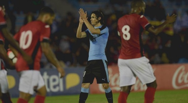 Jomal gets maiden goal but Cavani double leads Uruguay to 3-1 win over T&T
