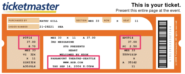 ticketmaster  - Heart in 2006
