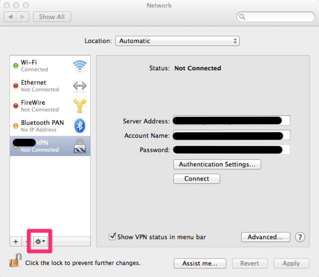 How to copy network settings on Apple OS