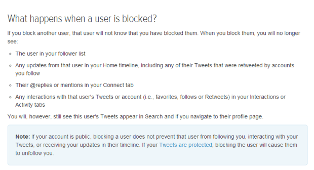Twitter Blocking Policy Dec 2013