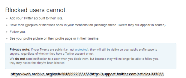 Twitter Blocking Policy Sept 2013