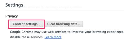 Chrome privacy settings