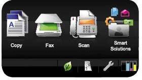 Lexmark OfficeEdge Pro5500 Main touch screen