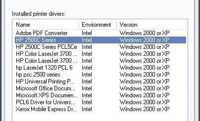 Windows Print Server Properties