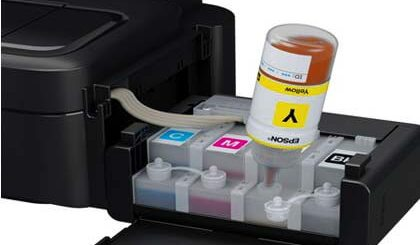 Epson L Series refillable ink tanks.