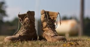 Scout Ranger worn-out combat boots