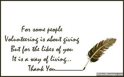 Thank You Messages for Volunteers: Appreciation Quotes – WishesMessages.com