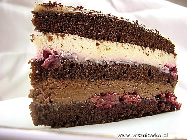 """Tort w stylu szwarcwaldzkim -  Tort """"Czarny las"""""""