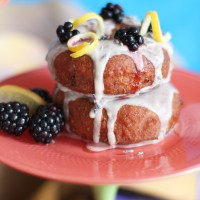 Donut o' the Month: Whole-Wheat Lemon, Lavender & Blackberry Glazed Cake Donut