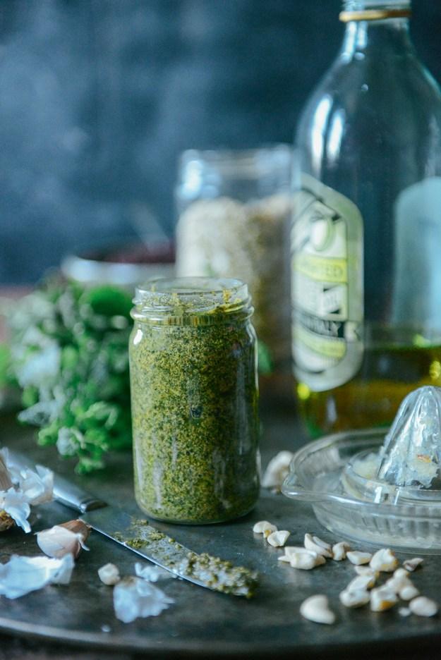 Farm Fresh Mint Pesto (Vegan & Gluten Free) // www.WithTheGrains.com